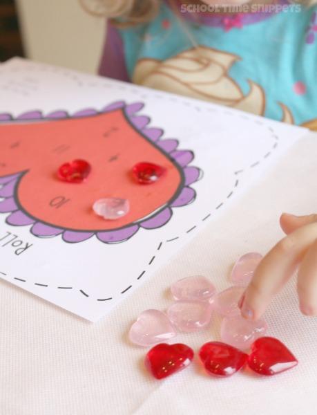 Valentine's Preschool Math Game