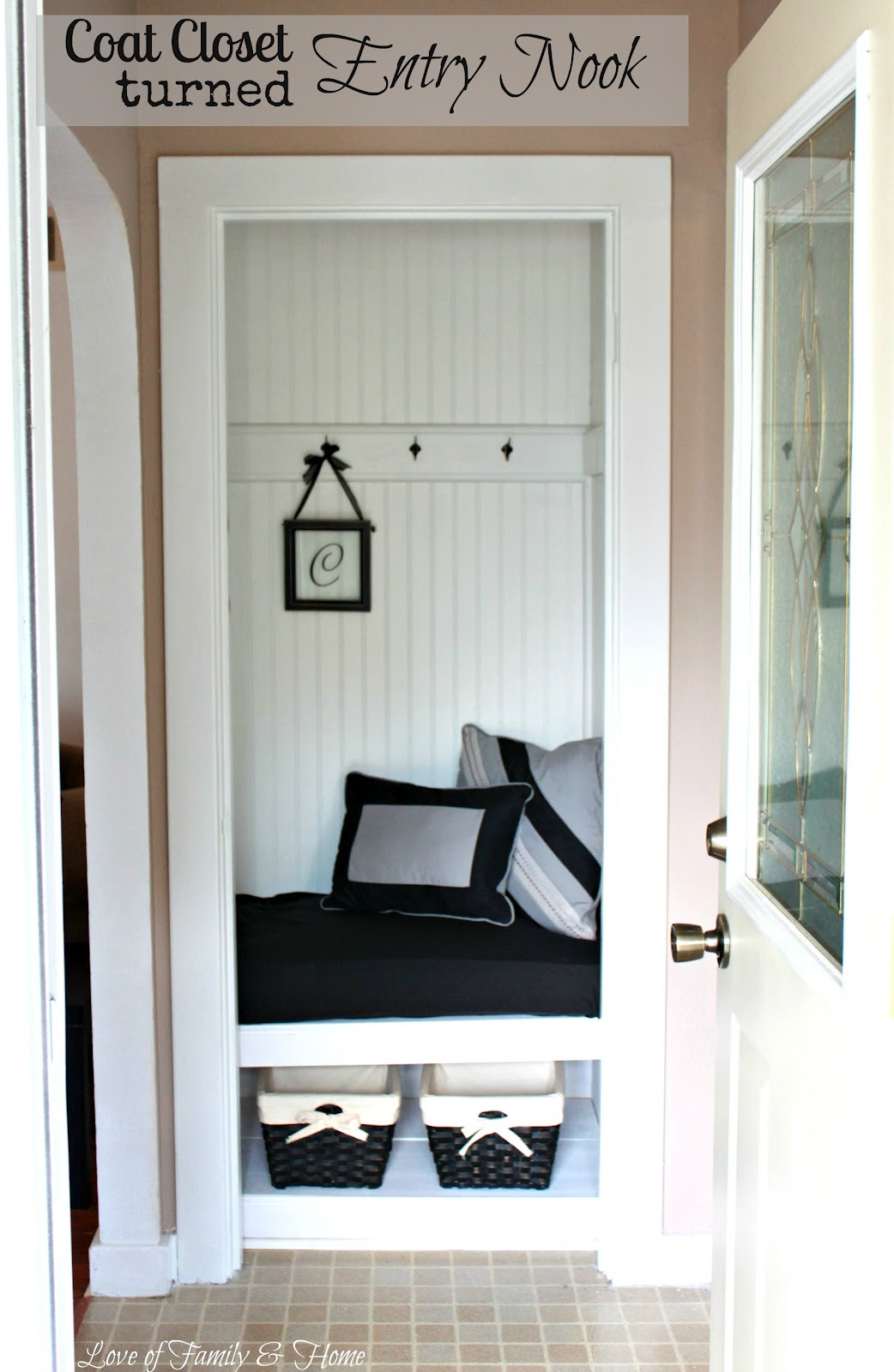 My Sister S New House Amp A Coat Closet Turned Entry Nook