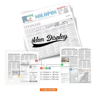 contoh iklan display koran solopos beserta ukuran