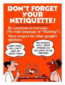 Communication Ethics on the Internet (Netiquette)