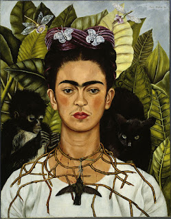 Frida Kahlo, Self Portrait with Thorn Necklace and Hummingbird, 1940