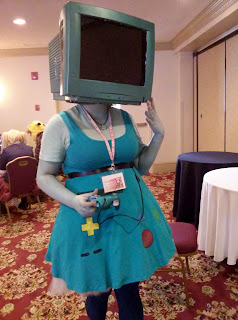 A semi-humanized BMO costume