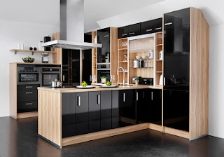 Cocina gabinetes negros
