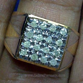 Cincin Pria Berlian Banjar Asli - ZP 1055