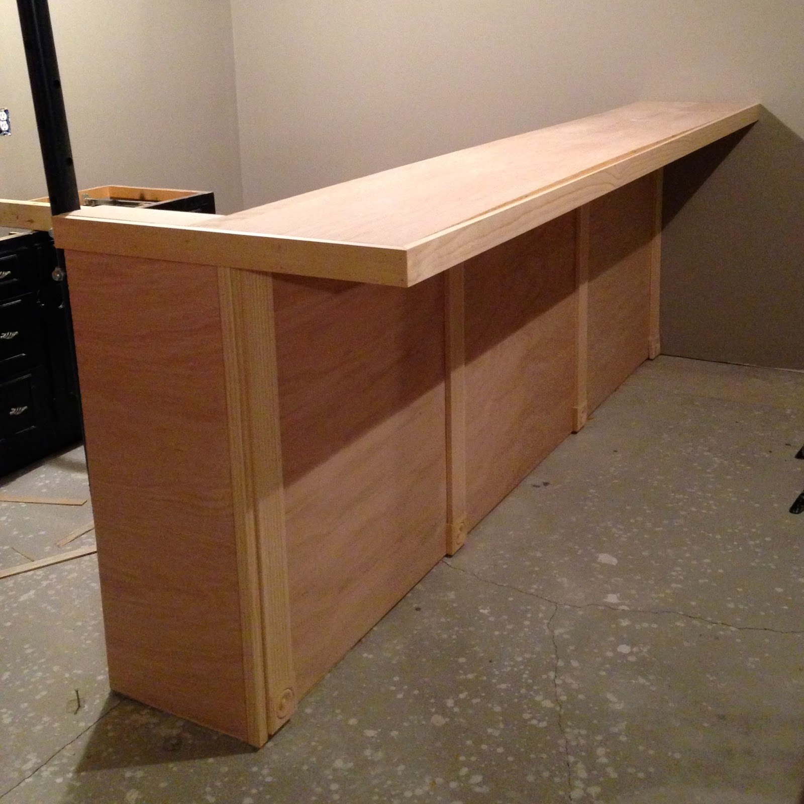 DIY Why Spend More: Build your own bar with faux granite ...