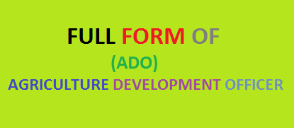 Full Form of ADO
