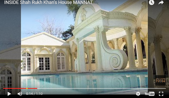 House of shahrukh khan pictures at home.