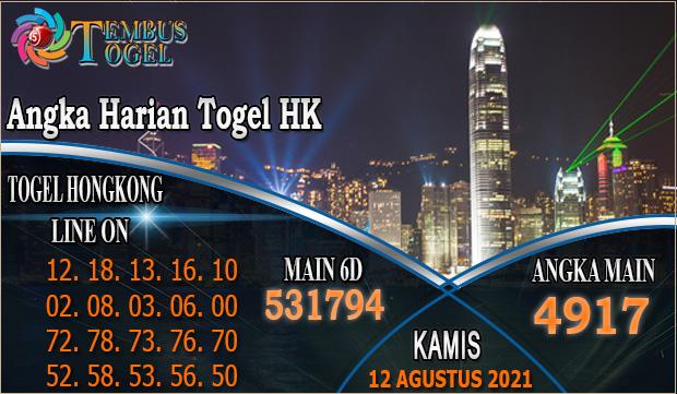 Angka Harian Togel HK - Kamis 12 Agustus 2021