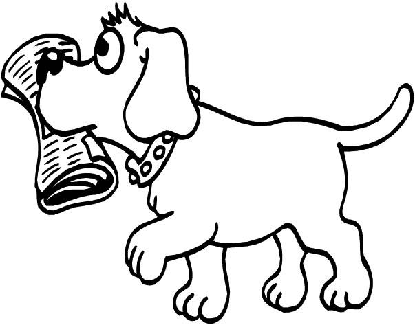 Immagini di cani da colorare - Colorazione immagine di un cane ...