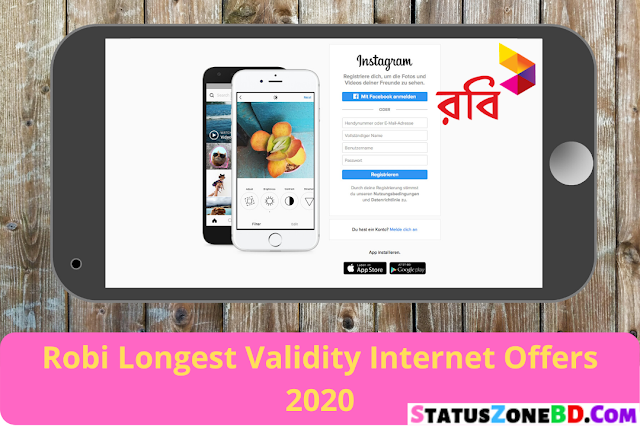 Robi Internet Offers 2020 - Longest Validity Robi Internet Packages