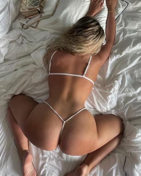 Ava sexy full backless bikini hot images