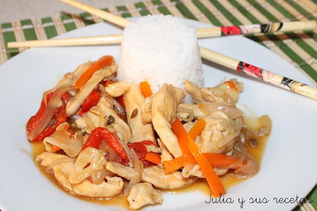 Chop swey de pollo. Julia y sus recetas