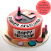 birthday cake bertemakan make up