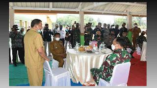 Bupati Deli Serdang Terima Kunjungan kerja Kasau Marsekal TNI Fadjar Prasetyo di Hamparan Perak