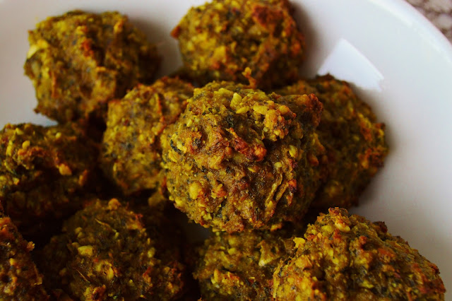 Vegetable Bhajis in a bowl