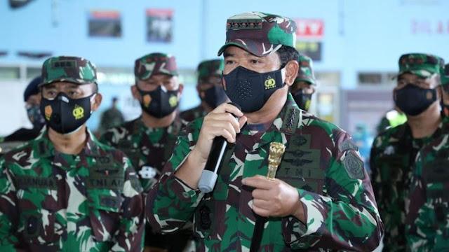 Panglima TNI Mutasi 99 Perwira Tinggi, Ini Daftarnya