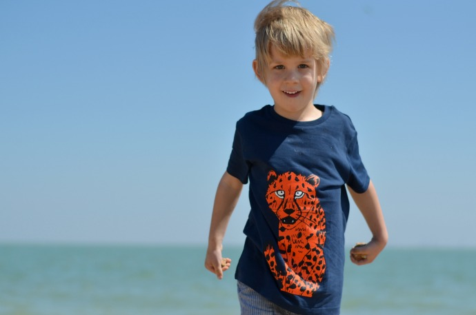 five boys clothing, cheetah t-shirt