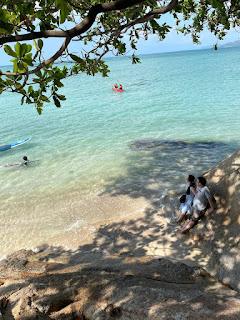 俯瞰飯店私人海灘一景