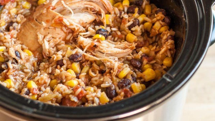 Slow Cooker Chicken Burrito Bowls #dinner #vegan