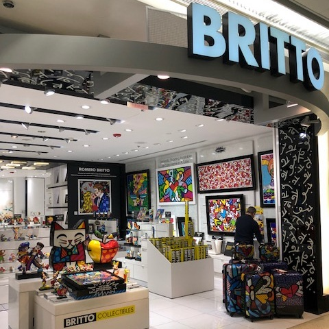 Britto Gallery at Miami International Airport