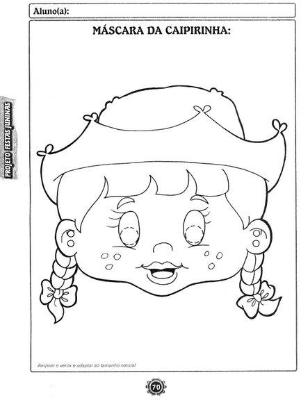 Mimos E Encantos Da Educacao Mascaras Caipira Para Imprimir E