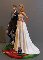 cake topper realistico moda modella indossatrice giocatore pallone decorazioni torta orme magiche