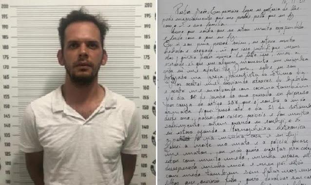 """Ladrão rouba pastor, se arrepende e pede perdão em carta: """"Me afastei de Deus"""""""