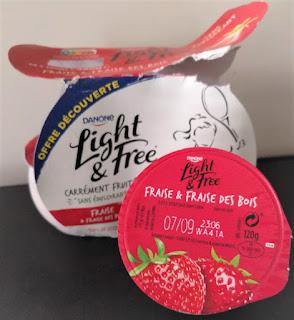 Danone Light & Free Strawberry French Yogurt