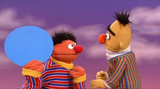 Ernie and Bert, Ernie finds a circle, Bert sings It's a Circle song, Sesame Street Episode 4319 Best House of the Year season 43