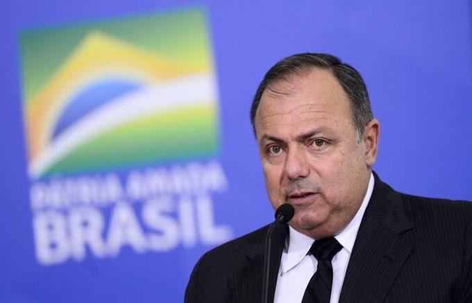 "Ministro Pazuello diz que aumento de casos e mortes por Covid é ""repique"""