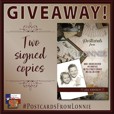 Postcards from Lonnie giveaway graphic