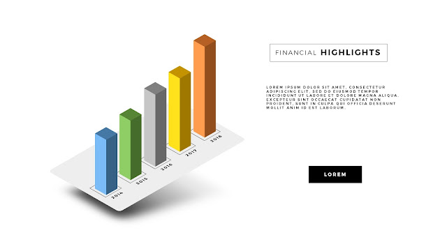 Free PowerPoint Template with Perspective Chart Effect Slide 3