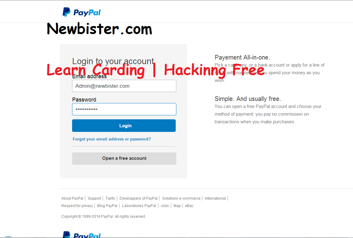 Paypal New Scam Page 2015 Undetectable - Learn | Computer Trick'S