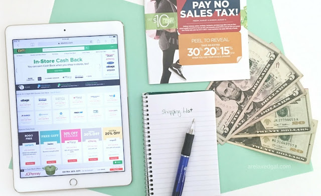 6 step plan for saving during sales tax holiday | arelaxedgal.com