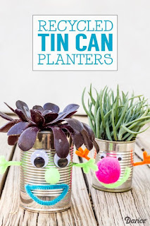 http://blog.darice.com/kids-crafts/recycled-crafts-can-planters/