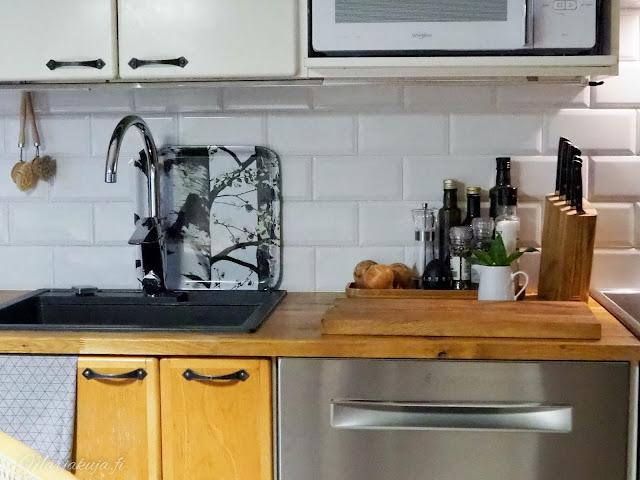 koti keittiö sisustus kierrätys kirppistely boheemi
