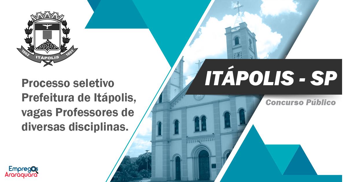 Prefeitura de Itápolis - SP lança edital de processo ...