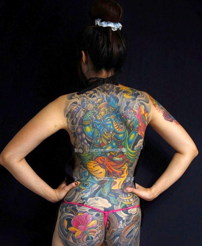 Художественные татуировки у женщин