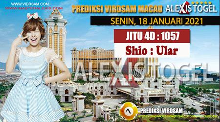 Prediksi Virdsam Togel Macau Senin 18 Januari 2021