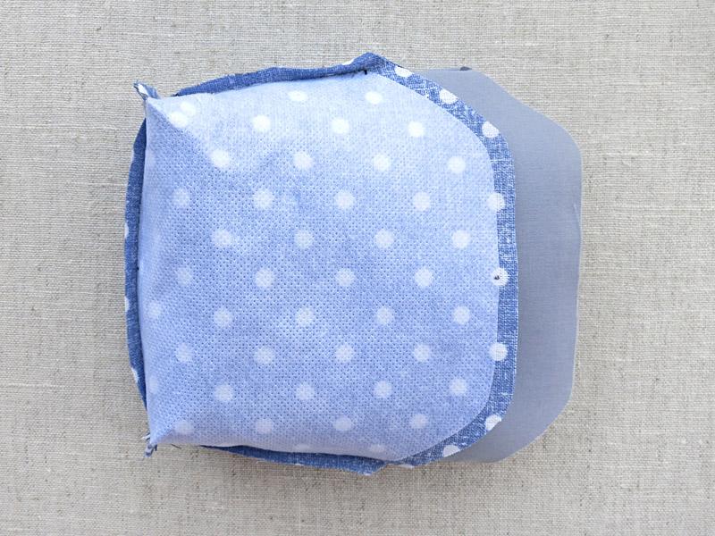 Sew cute mini purse with clasp. DIY Pattern & Tutorial.