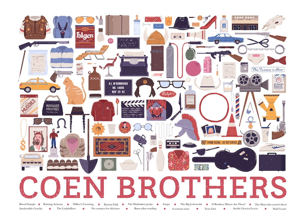 04-Coen-Brothers-Maria-Suarez-Inclan-Movie-Illustrations-Infographic-Guess-the-Film-www-designstack-co
