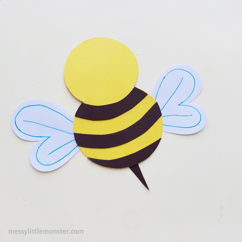 making a paper craft bee