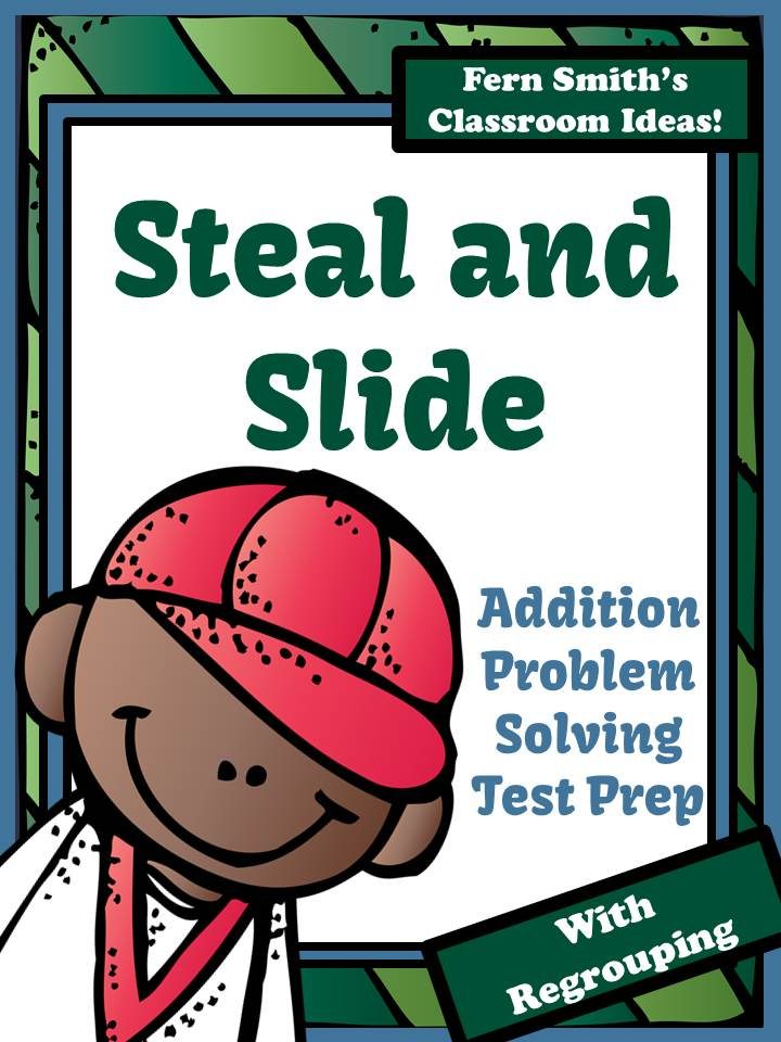 Fern Smith's Test Prep Baseball's Steal and Slide Method - Addition With Regrouping