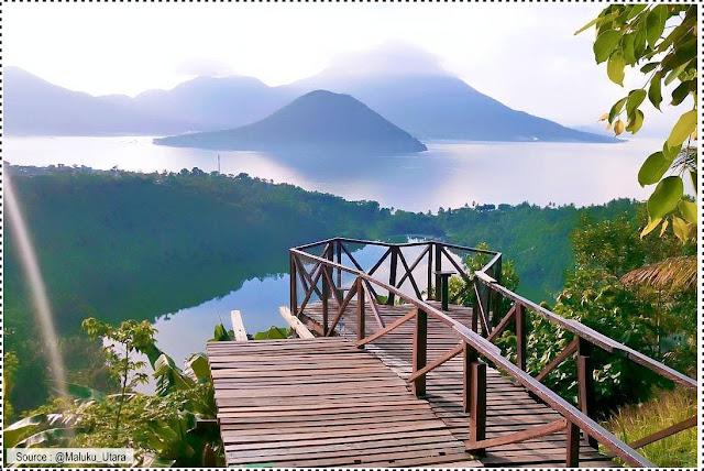 Surga itu Ternate, tempat wisata yang keren salah satunya danau laguna