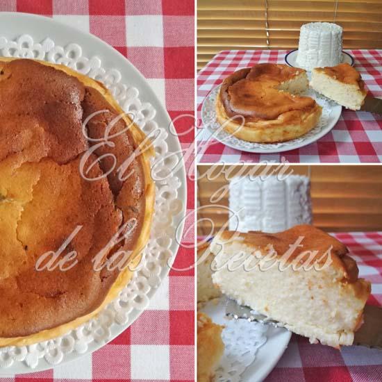 Tarta de queso fresco o cheescake de queso fresco