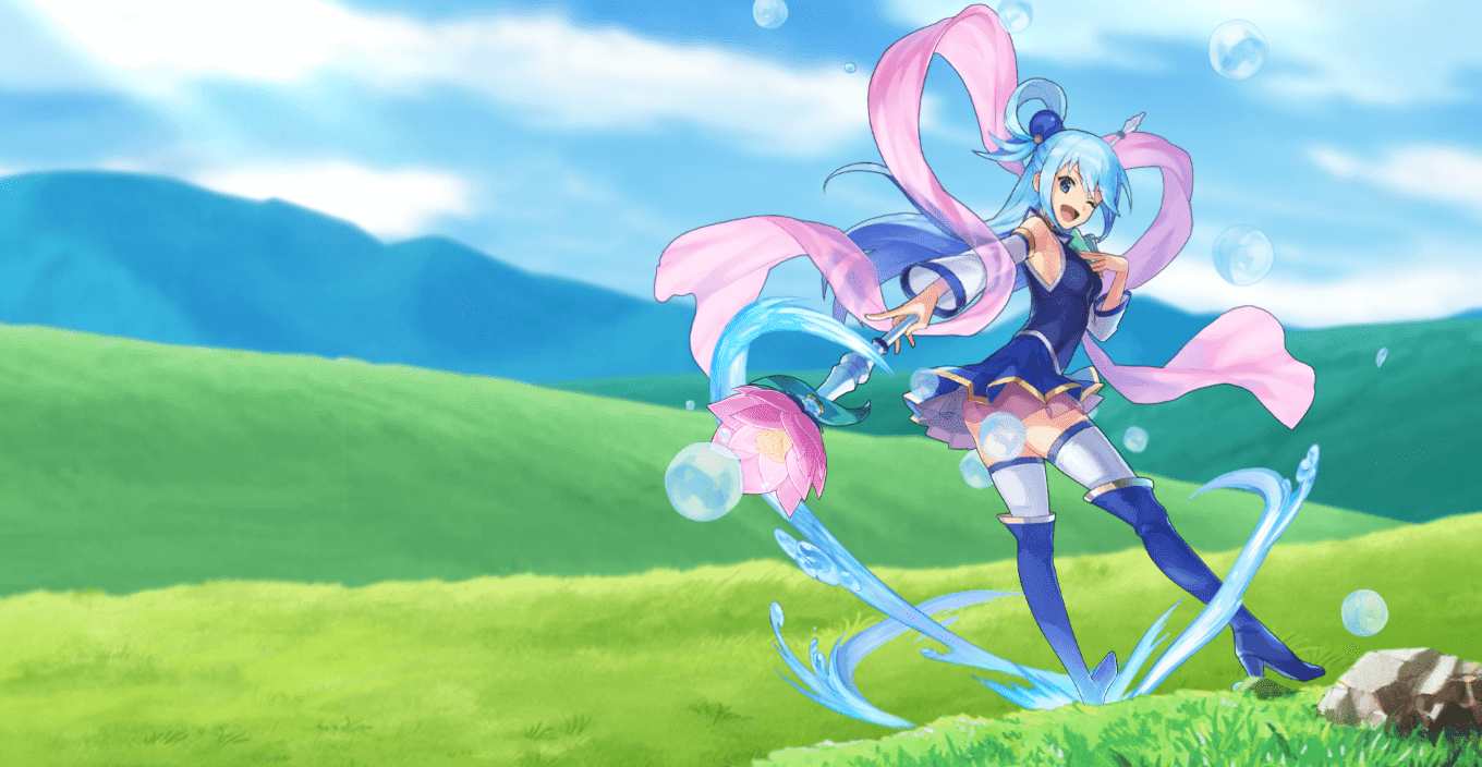Aqua - konosuba - animated parallax [Wallpaper Engine Anime]