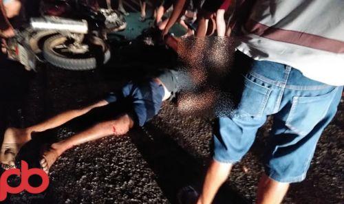 Um morto, e outro gravemente ferido foi o saldo de colisão de moto no Sítio Malhado dos Alves em Sousa; Imagem