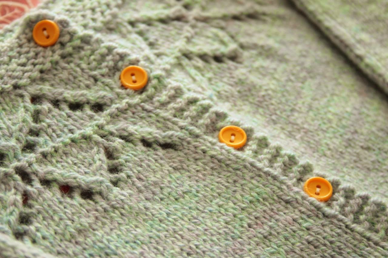 Cherry Heart:  Granny's favourite cardigan button choice