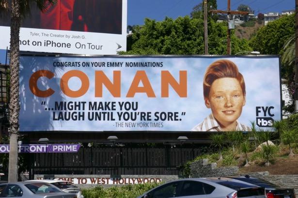 Conan 2019 Emmy nominee billboard