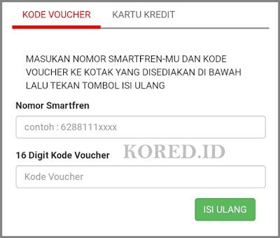 Isi Ulang Voucher Smartfren Secara Online/Website